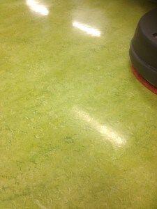 Resultaat schoonmaak linoleum Floorec