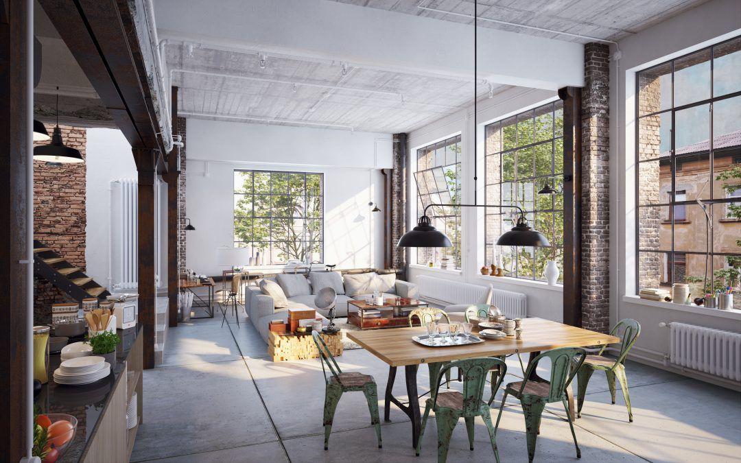 4 vloeren die passen bij industrieel interieur