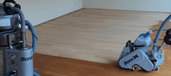 Eiken vloer schuren