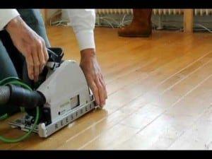 Frezen houten vloer