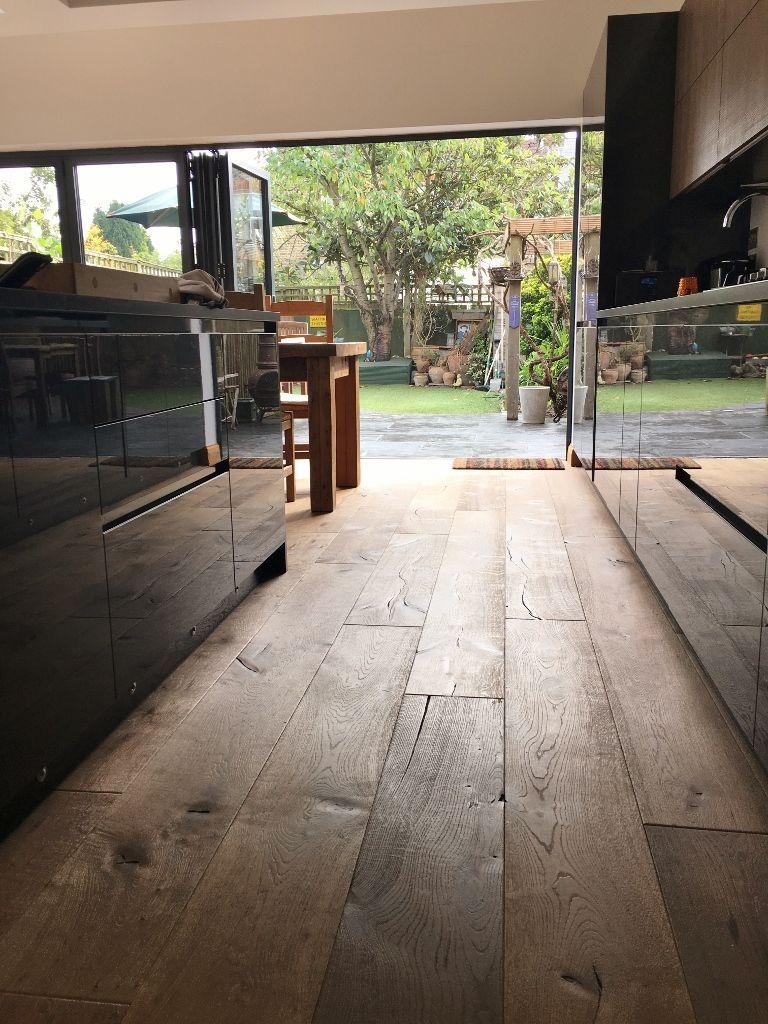 industriële houten vloer
