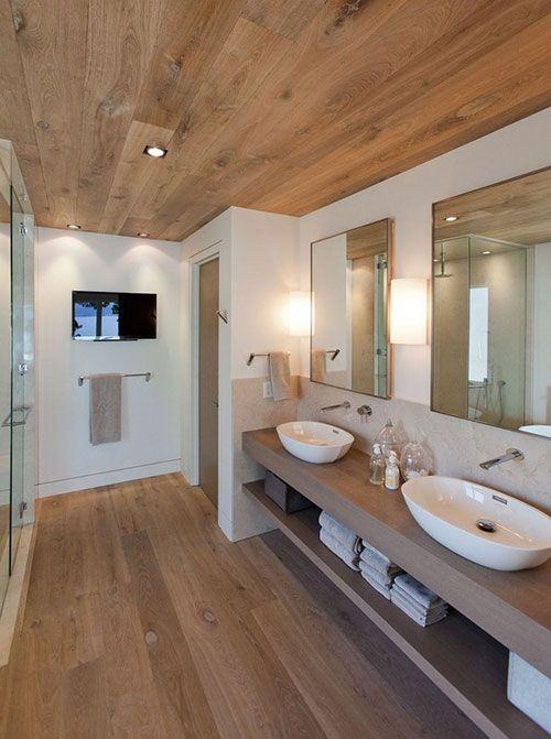 Betere 3 voorbeelden van een houten vloer in de badkamer - Floortec HK-28