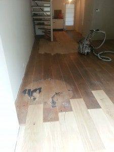 Vóór parket reparatie Floortec