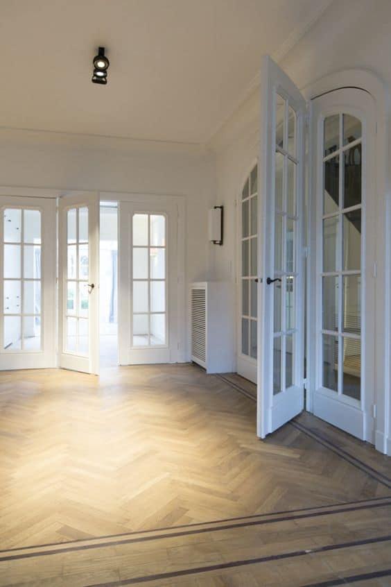 visgraat vloer patroon houten vloer