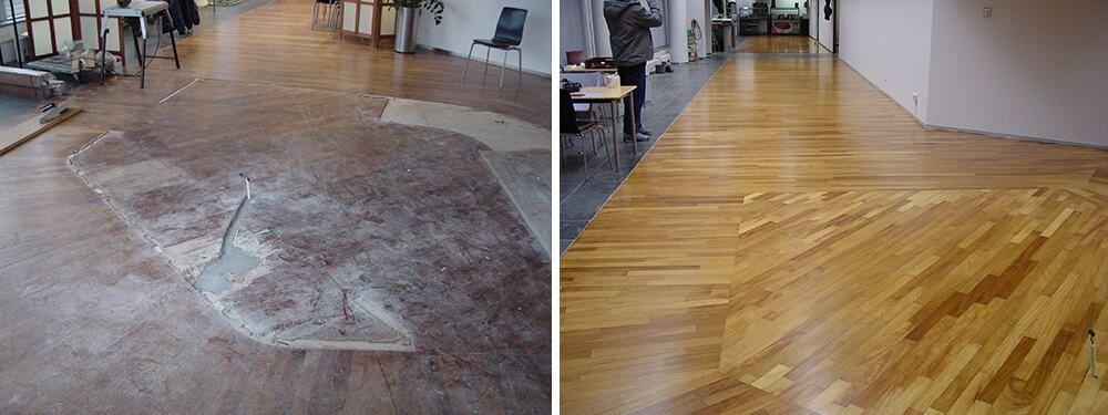 Onderhoud houten vloet voor-na